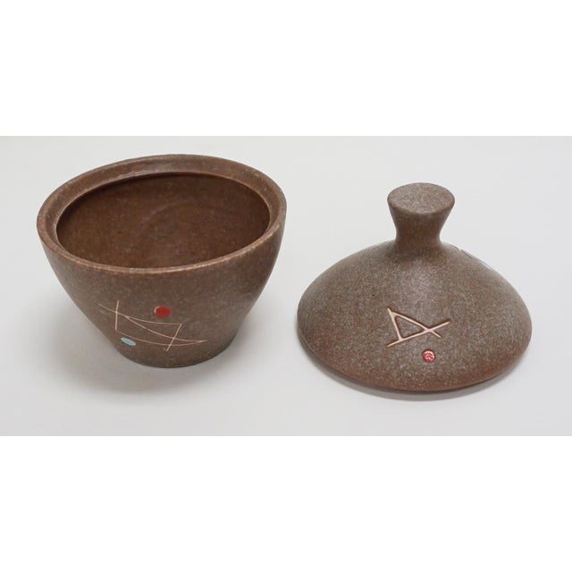 Geometric Ceramic Pot Sculpture For Sale - Image 4 of 6