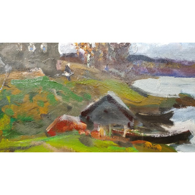 """Alex Eremin """"Autumn Day at the Marina""""- Landscape Oil Painting For Sale - Image 4 of 11"""