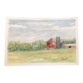 """Nancy Smith Original """"In That Same Spirit"""" Watercolor Painting For Sale"""