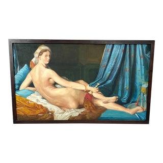 Portrait of Harem Woman - Framed Acrylic on Canvas For Sale