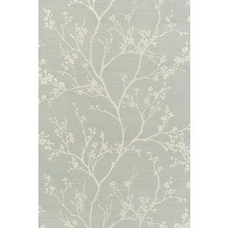 Sample - Schumacher Twiggy Sisal Wallpaper in Sky For Sale