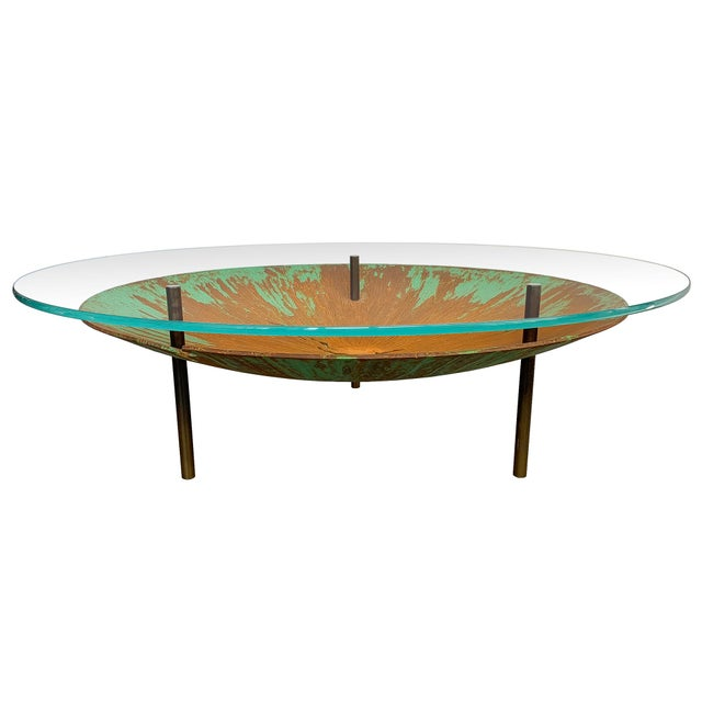 """David Orth Patinated Steel """"Meteorite"""" Coffee Table For Sale - Image 12 of 12"""