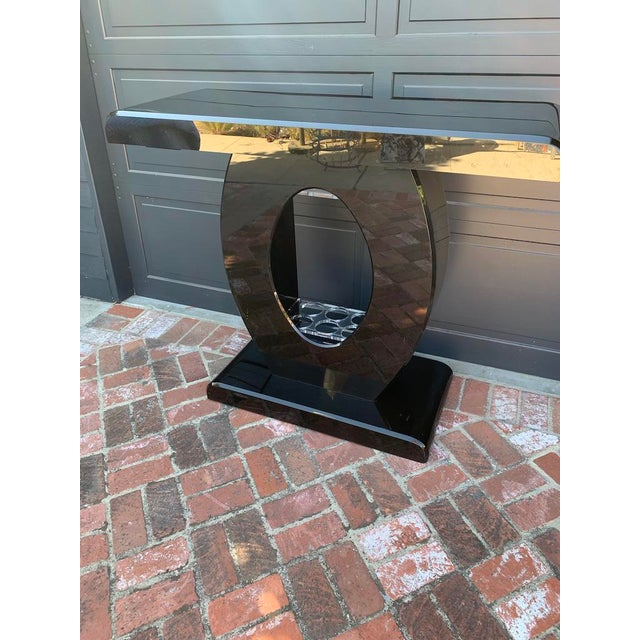 Vintage Contemporary Black Lucite Bar Console For Sale - Image 12 of 12