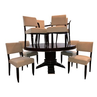 1940s Art Deco Rosewood Dining Set - 9 Pieces For Sale