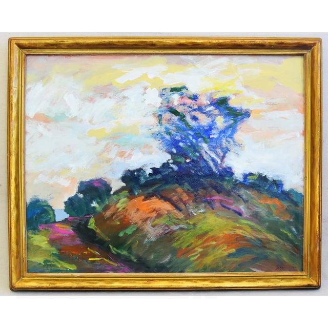 Blue Juan Pepe Guzman Ventura California Ocean/Beach Oil Painting For Sale - Image 8 of 9