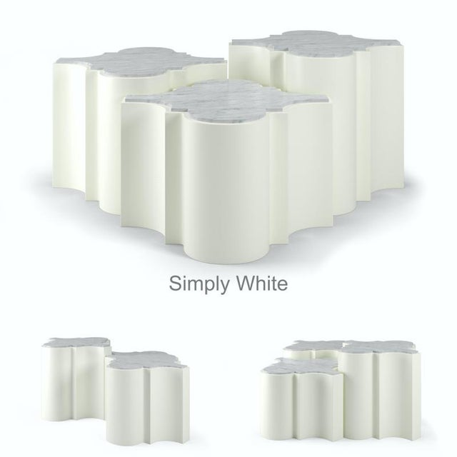 Not Yet Made - Made To Order Sofia Nesting Tables, Set of 3 - Simply White For Sale - Image 5 of 6