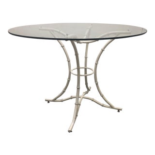 Vintage Faux Bamboo Dining Table For Sale