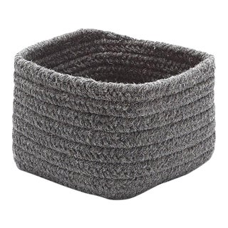 Natural Shelf Square Basket 11x11x8 Dark Gray
