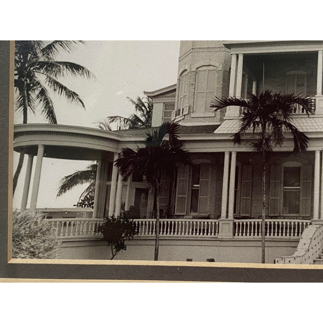 Glass Mid-Century Photograph of Key West's Southernmost House in America For Sale - Image 7 of 9