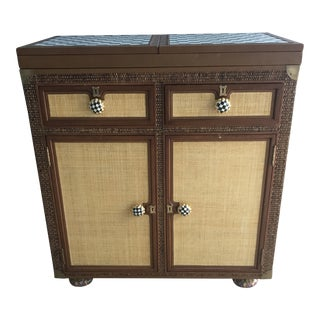 Art Deco Style MacKenzie Childs Full Bar For Sale