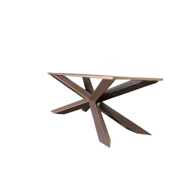 Industrial Modern Dining Table or Conference Table by Invictus Steelworks For Sale - Image 3 of 3