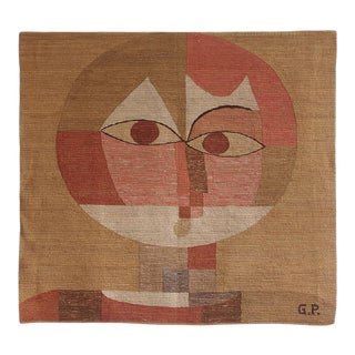 1950s Hand-Woven Tapestry After Paul Klee