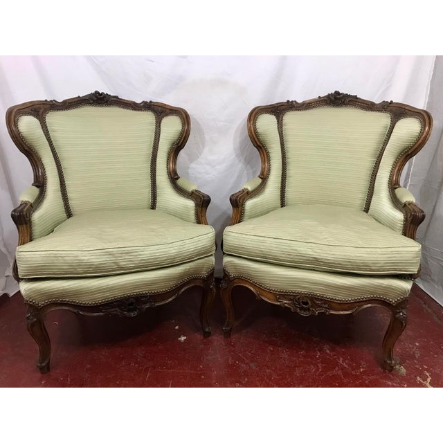 Louis XV Style Walnut Bergers a Pair For Sale - Image 10 of 10
