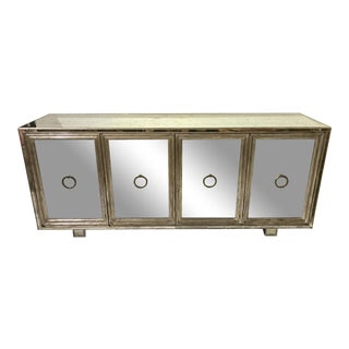 1950s James Mont Hollywood Regency Mirrored Credenza For Sale