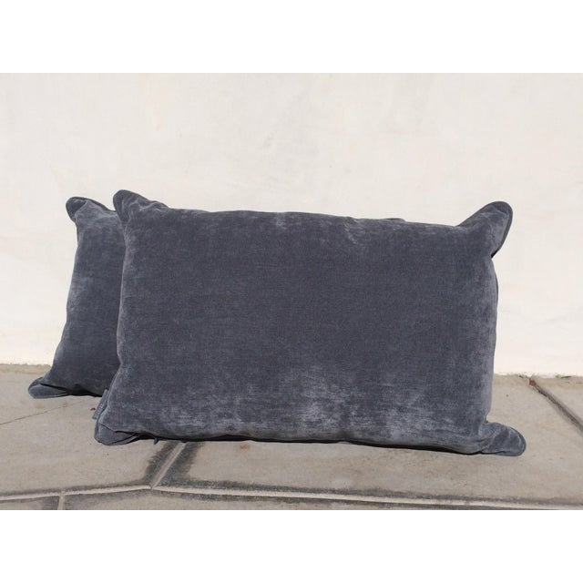 Velvet Cape Cod Blue Pillows - a Pair - Image 7 of 8