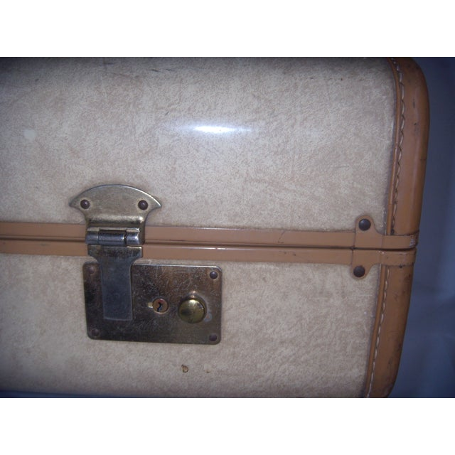 Mid Century Penney's Towncraft Vinyl Suitcase For Sale - Image 5 of 10