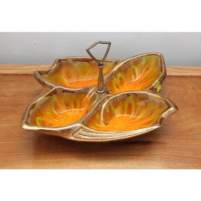 1960s California Pottery Divided Tray For Sale In San Francisco - Image 6 of 6