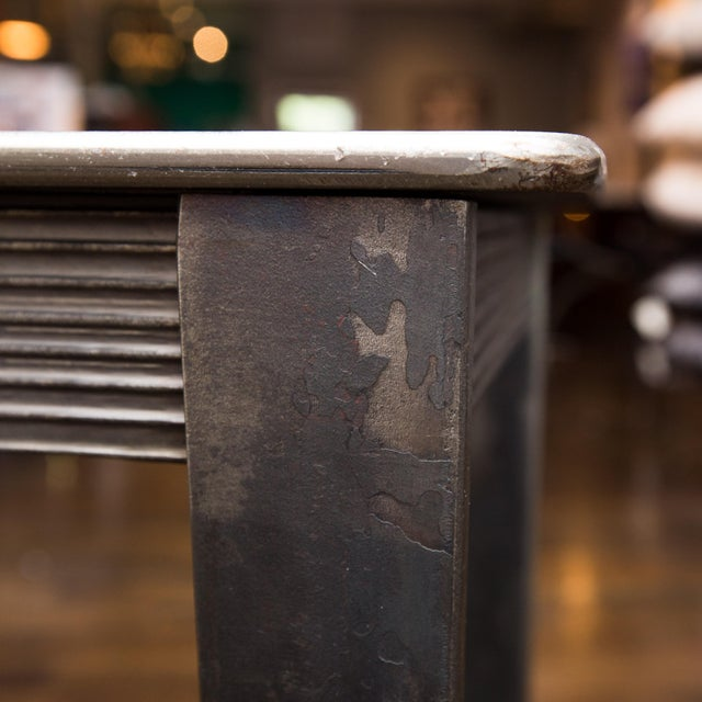 Will Stone Handmade Steel Drink Table - Image 2 of 6