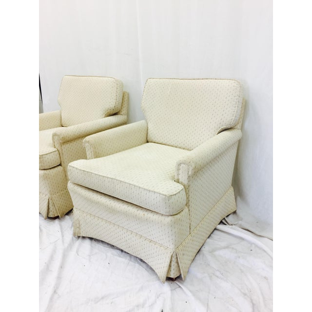 Vintage Henredon Club Chairs - a Pair - Image 4 of 6
