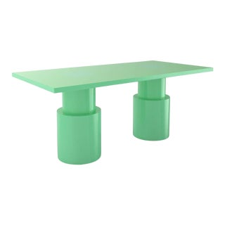 Contemporary 102C Dining Table by Orphan Work, 2020, Green For Sale