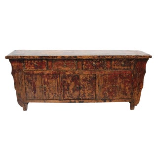 Antique Chinese Shandong Wooden Sideboard For Sale