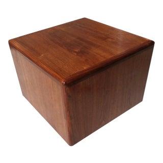 Mid-Century Milo Baughman Style Walnut Cube Table