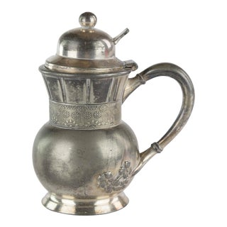 Meriden Quadruple Silver Plate Syrup Pitcher For Sale