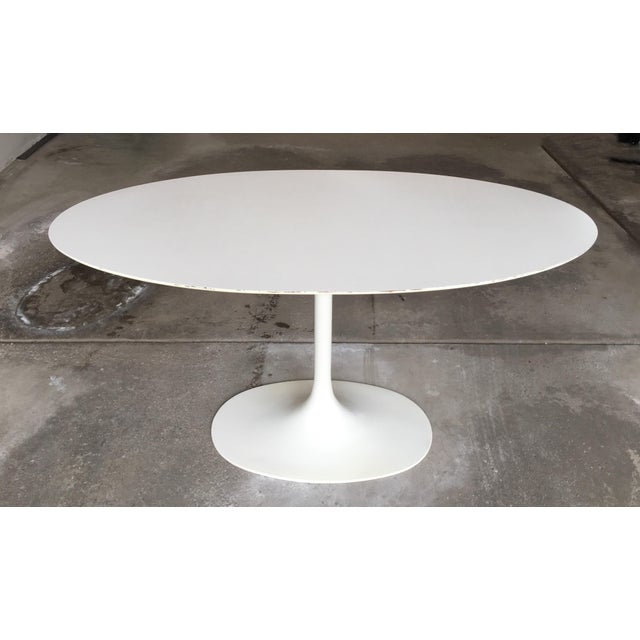 Mid-Century Saarinen Style Oval Tulip Table For Sale - Image 12 of 12