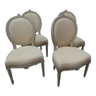 Swedish Gustavian Side Chairs - Set of 4 For Sale