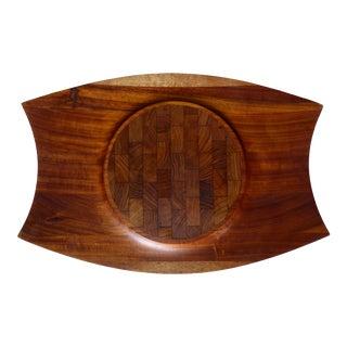 Jens Quistgaard Limited Edition Rare Dansk Modern Mutenye Wood Tray For Sale