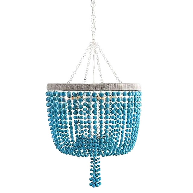 Arteriors Home Turquoise Beaded Four Light Chandelier - Image 1 of 11