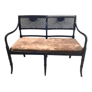 Vintage Traditional Cane Settee / Bench For Sale
