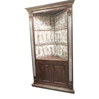 Rustic Wood Corner Cabinet For Sale