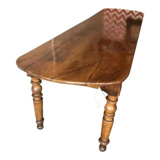 French Oversized Fruitwood Table, 127""