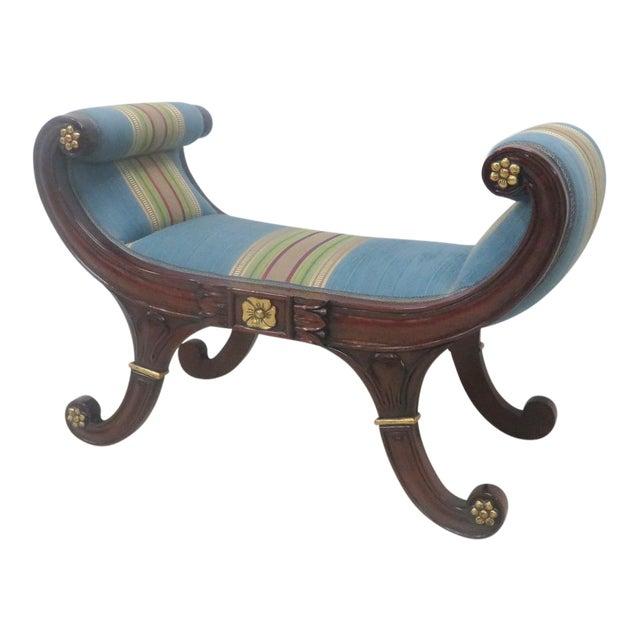 Mahogany Regency Style Window Bench For Sale