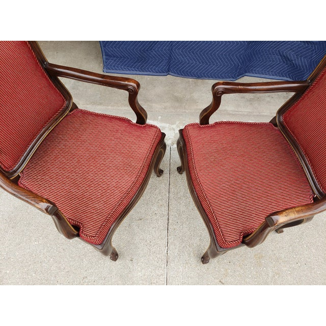 French Vintage Henredon French Regency Armchairs- a Pair For Sale - Image 3 of 11