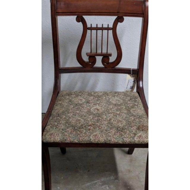 1940s Americana Lyre Dining Chairs - Set of 6 For Sale In Austin - Image 6 of 7