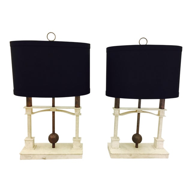 Vintage Mid-Century Modern Art Deco Lamps - a Pair - Image 1 of 10