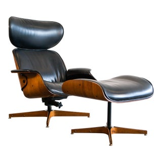 1960s Vintage George Mulhauser for Plycraft Mr. Chair & Ottoman For Sale