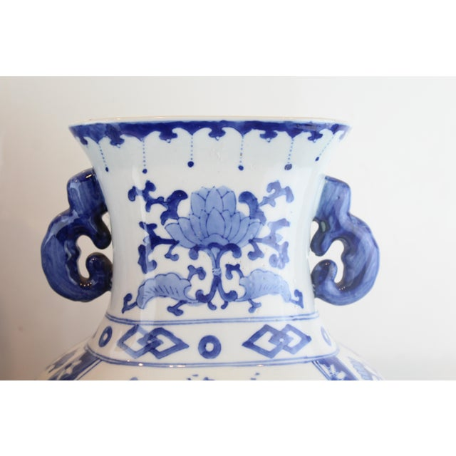 Asian Chinese Double Handled Urn For Sale - Image 3 of 7