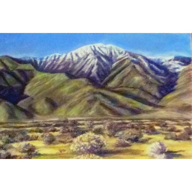 Eastern Sierra Pastel Drawing For Sale