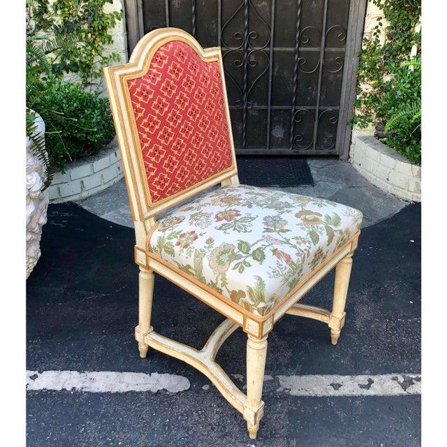 Maison Jansen Antique Louis XVI Maison Jansen Side Chairs - a Pair For Sale - Image 4 of 6