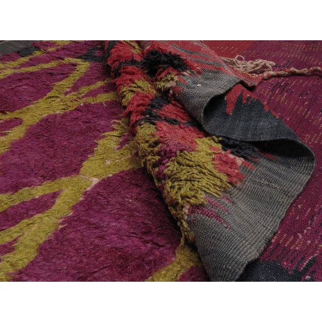 Ait Bou Ichaouen Moroccan Berber Carpet For Sale - Image 10 of 10