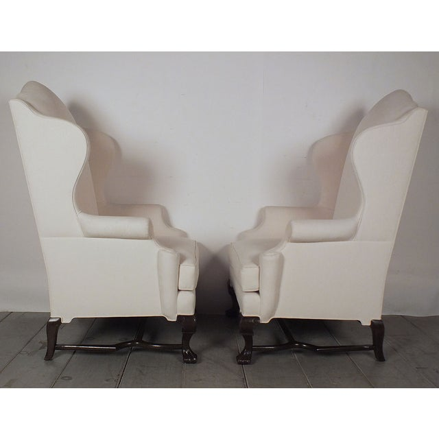 Traditional English Antique Wingback Chairs - Pair - Image 9 of 10