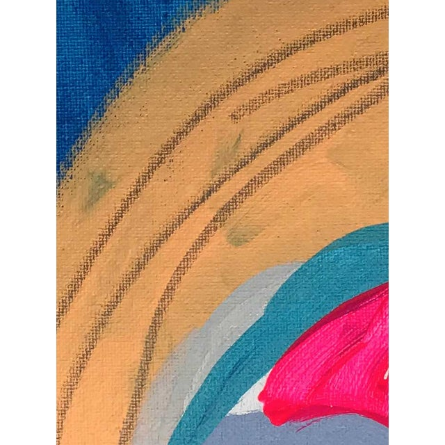 """Abstract Contemporary Abstract Portrait Painting """"Time for Action"""" For Sale - Image 3 of 4"""