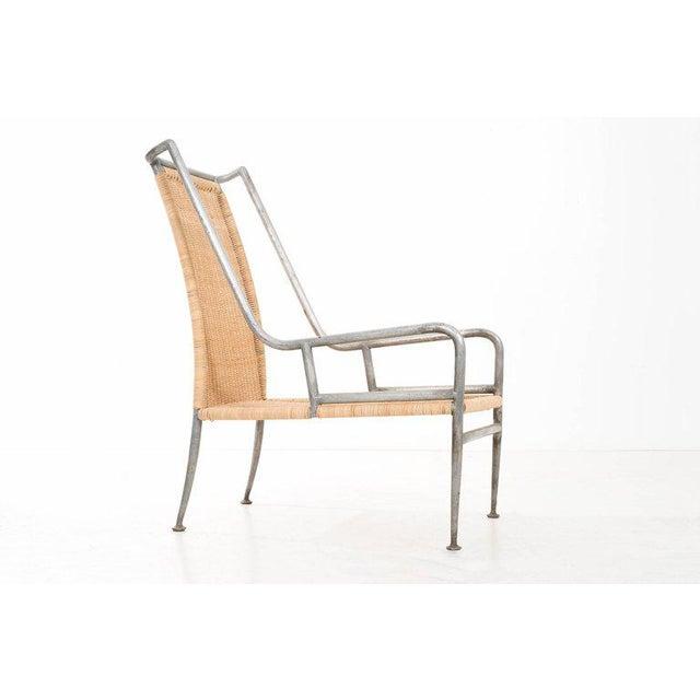 Mid-Century Modern Arturo Pani Prototype Magnesium/ Aluminum Chair For Sale - Image 3 of 7