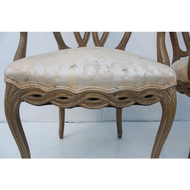 Hollywood Regency Dorothy Draper Style Arm Chairs- A Pair - Image 5 of 11