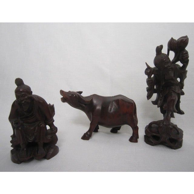 Chinese Rosewood Figures - Set of 3 - Image 2 of 7