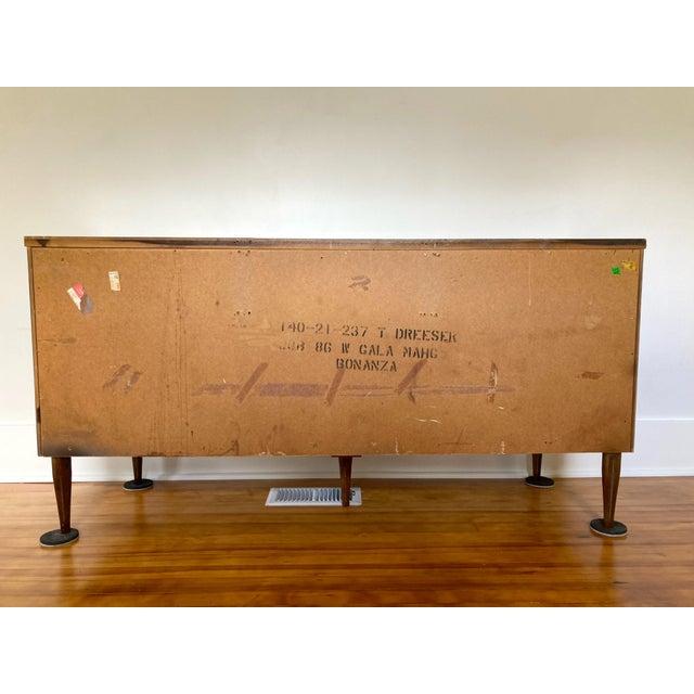 Mid 19th Century Mid Century Modern Bassett 9 Drawer Lowboy Dresser For Sale - Image 11 of 12