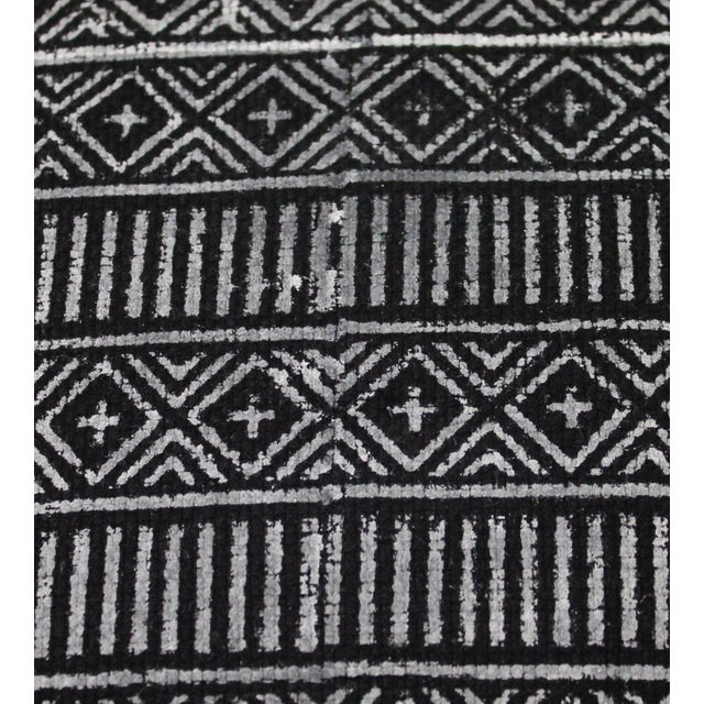 Black Vintage Geometric Patterned Pillow For Sale - Image 8 of 12